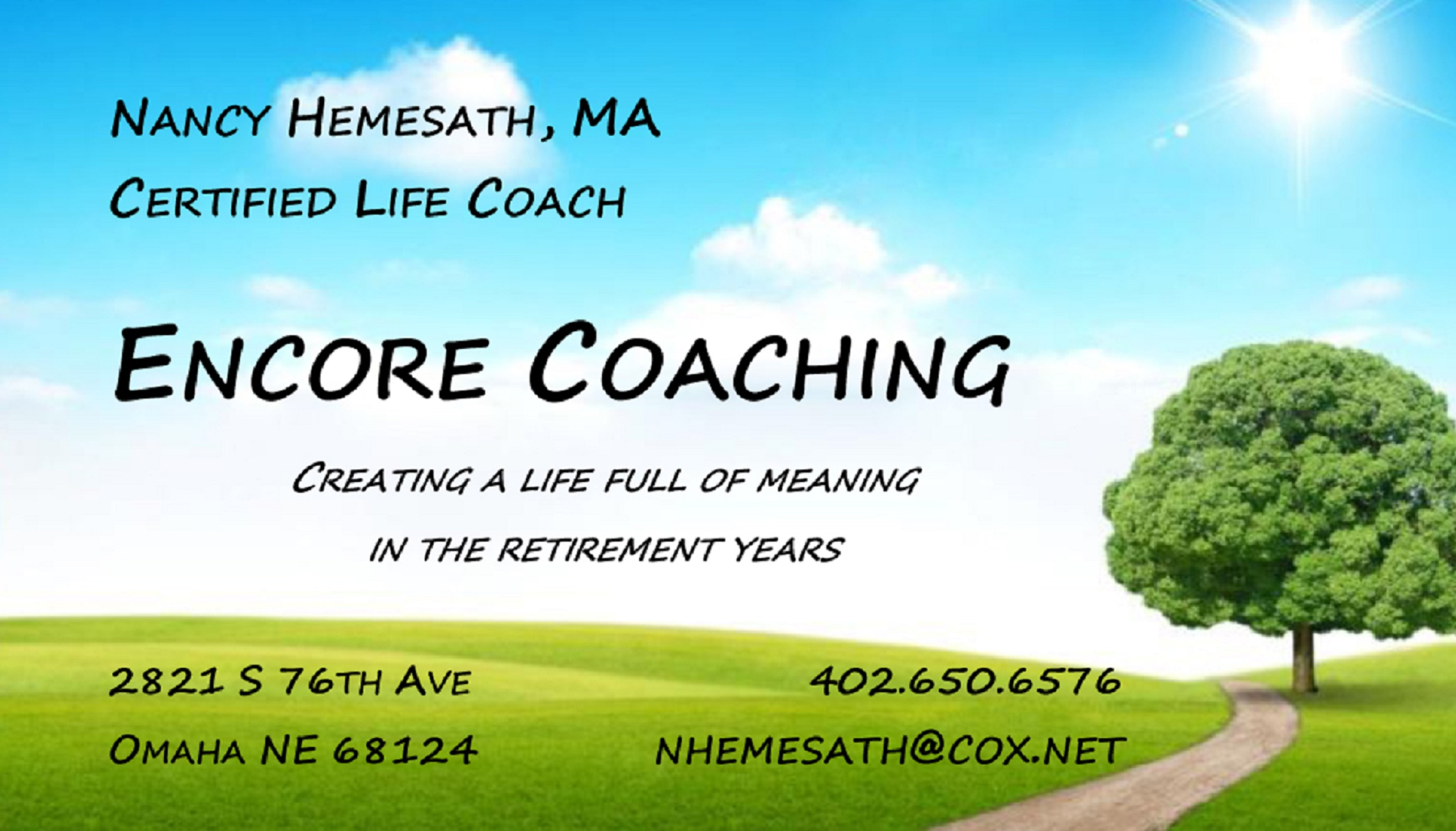 encore coaching – tools to develop the life we love to live
